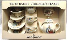 Wedgwood Beatrix Potter Peter Rabbit Children's 10 Piece Tea Set in Orginal Box | eBay