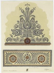 Hungarian Embroidery Pattern hungarian designs- love the idea of taking the colors out of it. Hungarian Embroidery, Folk Embroidery, Learn Embroidery, Polish Embroidery, Floral Embroidery, Chain Stitch Embroidery, Embroidery Stitches, Embroidery Patterns, Stitch Head