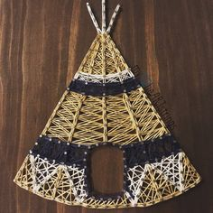 Teepee string art made to order by my2heARTstrings on Etsy