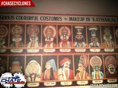 Different characters of Kathakali Dancers #ChaseCyclones #ChaseTheMonsoon