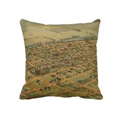 Vintage Pictorial Map of Phoenix Arizona (1885) Throw Pillows from Zazzle.com $62.40