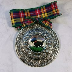 Buchanan Tartan Ribbon with Scottie Pendant