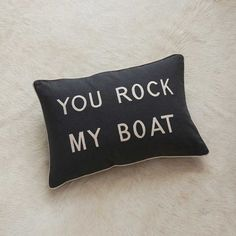 No Dogs Allowed Cushion - Pouffes, Cushions & Throws - Home Accessories Pontoon Party, Pontoon Boat Accessories, Fishing Accessories, Boating Holidays, Boat Decor, Cute Bedding, Cool Boats, Boat Stuff, Lake Cabins