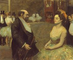 Jean Louis Forain French, 1852-1931 In the Wings, 1899