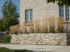Limestone wall at Stone Harbor Resort in Sturgeon Bay, Wisconsin. (Color:Buff)