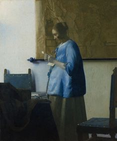 Woman in Blue Reading a Letter, Johannes Vermeer, c. 1662-1665. Oil on canvas. Rijksmuseum, Amsterdam.