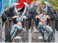 White Lantern Corps - Hawkgirl and Hawkman Marvel Dc Comics, Dc Comics Art, Marvel Vs, Aquaman Dc Comics, Dc Heroes, Comic Book Heroes, Comic Books Art, Comic Art, White Lantern Corps