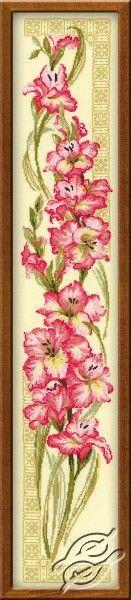 gladiolus Cross Stitch | Twine Of Gladiolus - Cross Stitch Kits by RIOLIS - 938