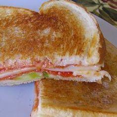 Grilled Pizza Sandwiches Allrecipes.com