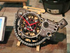 Motorbike clock by Brendan Potter, Blaque Pearl Lifestyle Decorex 2016