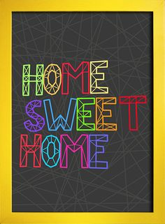 Poster Home Sweet Home - comprar online