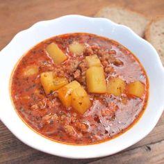 Vepřová gulášová polévka