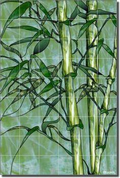 Expressions Bamboo Plant Art Shower Ceramic Tile Mural | eBay