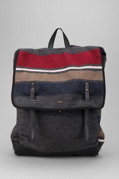 A refined rucksack constructed of wool herringbone tweed. #urbanoutfitters