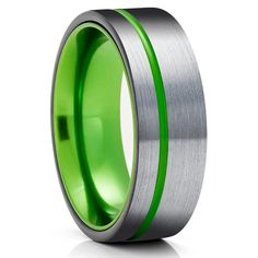Green Tungsten Wedding Bands | Green Tungsten Wedding Rings – Page 2 – Clean Casting Jewelry Green Rings, Black Rings, Engraving Fonts, Laser Engraving, Titanium Rings For Men, Black Wedding Rings, Tungsten Wedding Rings, Victoria