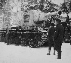 German captured KV-2 in winter camouflage
