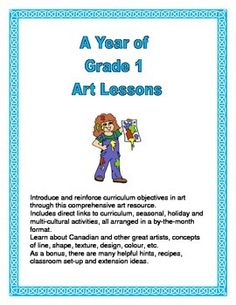 Introduce and reinforce curriculum objectives in art through this comprehensive art book.  Included are seasonal, holiday and multicultural activities, all arranged in a by-the-month format. Lessons teach about concepts of line, shape, texture, design, color, etc.