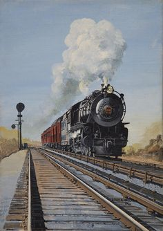 2458 Best Railroad Art images in 2019 | Train art, Train, Train posters