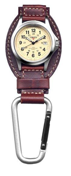 Dakota 35508 Brown Leather Hanger Field Clip Watch