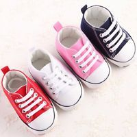 Infant Toddler Baby Boy Girls Soft Sole Crib Shoes Sneakers Newborn 0-18 Months