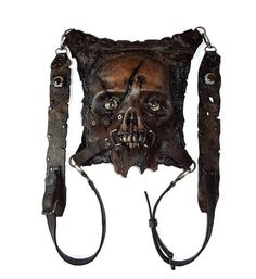 Leather zombie Bag Gothic Dead Art by FamilySkiners to Etsy