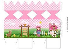 Kit Aniversário Fazendinha para Menina Rosa, gratuito para Imprimir, rótulos,convite, etc... Farm Party, Farm Theme, Party In A Box, Animal Party, Candy Colors, Party Themes, Diy And Crafts, Projects To Try, Birthdays