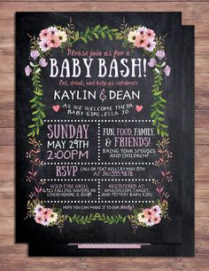 Baby Shower Coed Invitations Best Of Floral Rustic Boho Babyq Chalkboard Couples Co Ed Baby Shower Bbq Invitation Babyq Boy Girl Baby is Brewing Baby Girl Shower Baby Boys, Couples Baby Showers, Baby Shower Themes, Shower Ideas, Coed Baby Shower Invitations, Couple Shower, Boho Baby, Girl Shower, Baby Shower Co Ed
