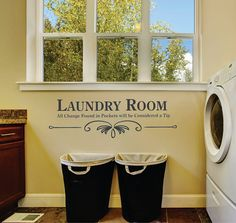 Spice up your walls with our premium vinyl decal wall art. 😍 The look of freshly painted words without the mess, time⌚or effort of painting. 🎨 We have a wide variety of colors to choose from. Laundry room... all change will be considered a tip.