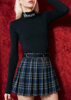Free, fast shipping on Current Mood Plaid Mini Skirt at Dolls Kill, an online boutique for punk fashion. Shop Current Mood clothing, shoes, & accessories here. Grunge Outfits, Edgy Outfits, Skirt Outfits, Cute Fashion, 90s Fashion, Korean Fashion, Fashion Outfits, Pleated Mini Skirt, Mini Skirts