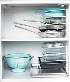 Great organization for pots and pans