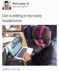 Or bi at least :P<<<how about 'his sexuality is none of your business'<<< pink definitely doesn't signify sexuality sooooooo<<< My best guy friends favourite colour was pink. He is most definitely straight. Dan Howell, Daniel James Howell, Phil Lester, Dan And Phill, Phil 3, Danisnotonfire And Amazingphil, British Men, Phan, Just Love