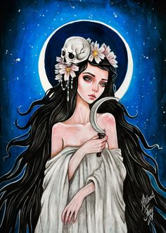 Items similar to Slavic goddess Mara. Original art and Fine Art Prints. on Etsy Art And Illustration, Digital Foto, Guache, Arte Pop, Gothic Art, Dark Art, Cute Art, Art Inspo, Beautiful Artwork