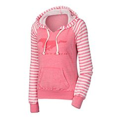 Roush Automotive Collection Store - Ford Mustang Coral Ladies Striped Hoodie (3361), $47.99 (http://store.roushcollection.com/ford/ford-mustang-pink-ladies-striped-hoodie-3361/)