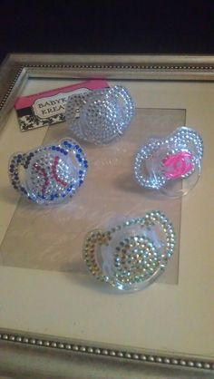 Bling Pacifiers Binkies by babykakeskreations on Etsy