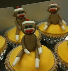 Sock Monkey Cupcakes