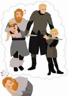 Tormund and Brienne make babies! Bearded babies