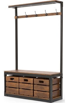 MADE Large Hall Stand, Black & Mango Wood. Layne Hallway Collection from MADE.COM...