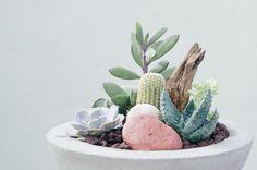 #concrete #concreteplanter #succulents #cacti Concrete Plant Pots, Plant Decor, Cacti, Potted Plants, Cement, Succulents, Urban, Instagram, Cactus Plants
