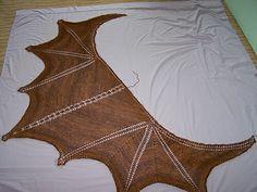 Crochet dragon wing shawl