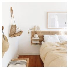 A headboard is a cool piece that adds to the style of your bedroom, can make a statement, give you storage space or additional light. Home Decor Bedroom, Bedroom Inspirations, Home Bedroom, Bedroom Interior, Room Inspiration, Home Decor, Apartment Decor, Home Deco, Remodel Bedroom