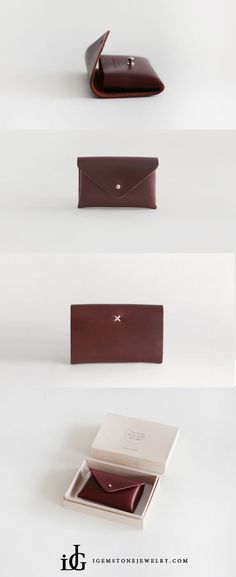 b5b508a6e9c3 Handmade Leather Card Wallets Package Coin Purse Change Wallets Women Diy  Leather Coin Purse, Leather