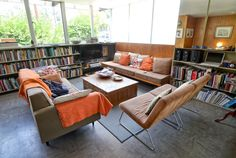 Bench -A Look Inside the Neutra VDL House — House Tour | Apartment Therapy