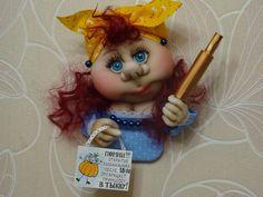"""Кукла-магнит на холодильник """"Хватит жрать!""""))"""