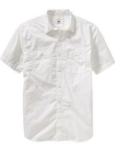 MEN - White Poplin Shirt