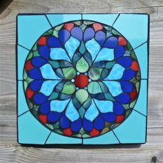 Pale Blue Mandala Mosaic by SiobhanAllenMosaics on Etsy