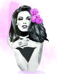 Cindy Crawford Illustration Art Print by Cindy Shames - X-Small Cindy Crawford, Pencil Illustration, Halloween Face Makeup, Photoshop, Art Prints, Color, Paper, Products, Art Impressions