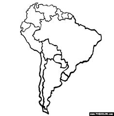 100 Free Continents Coloring Pages Color In This Picture Of An South America And