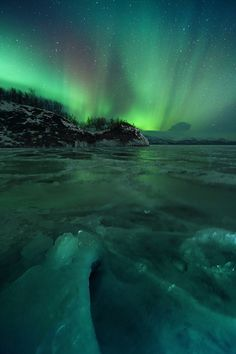 aAurora Lake Tornetrask, Abisko - Sweden