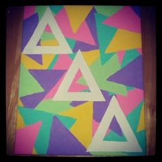 sorority craft | Tumblr  Love love love this. And obvio change to DG letters