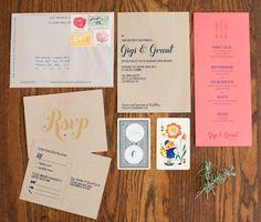 wedding suite invitation